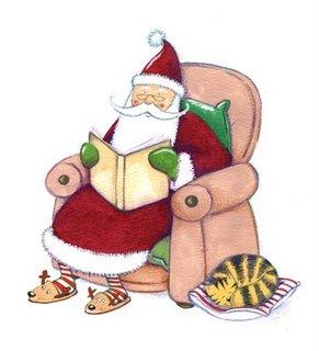 Santa+reading